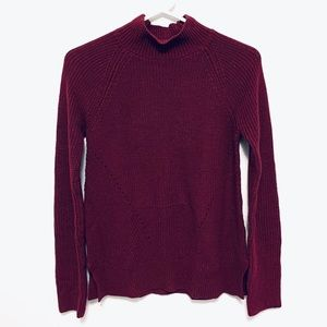 Gap Burgundy Knit Sweater